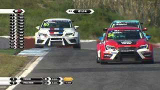 Crash, slide and surprise. 2016 Estoril, TCR Qualifying
