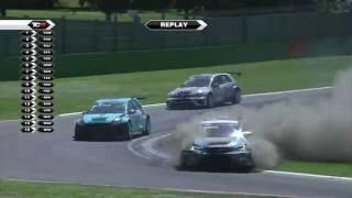 2016 Imola, TCR round 7. Borkovic's crash